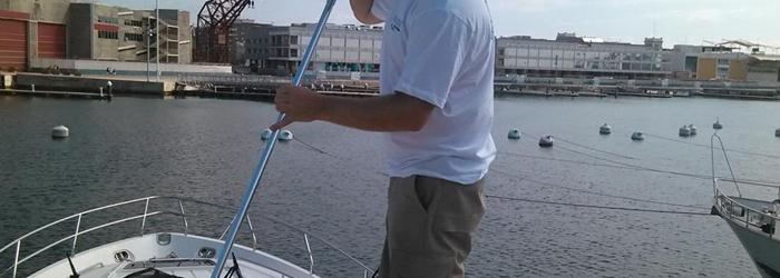Limpieza exterior de embarcaciones