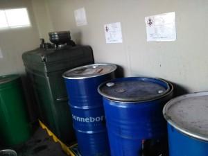 espacio habilitado reciclaje aceites