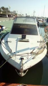 limpieza cubierta barco